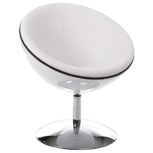Fauteuil design rotatif GAROE en polyuréthane (blanc)