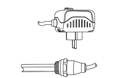 Heizstab 2 für HSK Designheizkörper mit Drehregler