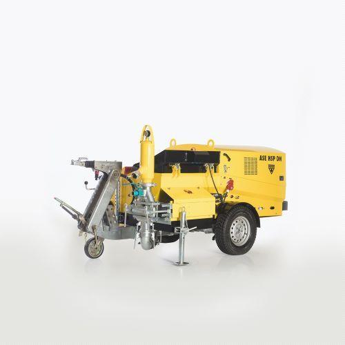 Bomba piston autonivelante Piston screed and plaster pump