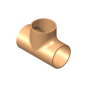 T-Stück, Kupfer nach EN 1057/12449, Cu-DHP, nahtlos