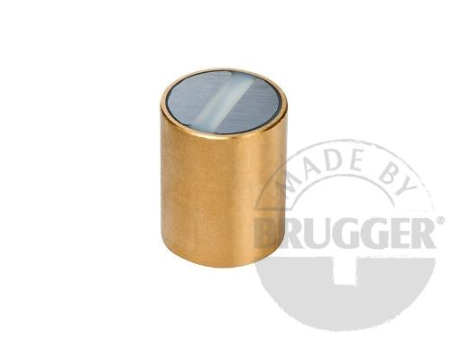 Bar magnet SmCo, brass body with fitting tolerance h6