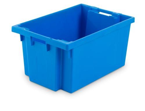 Contenitore in plastica inserible e sovrapponible