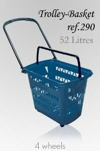Trolley Basket - 52 Litres (4 wheels)