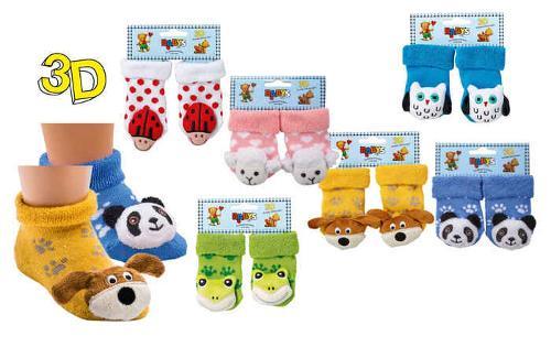 "5226 - Newborn Socks ""Baby-Rattle"""