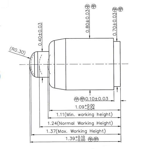 1,39mm kleiner Batterieladekontakt