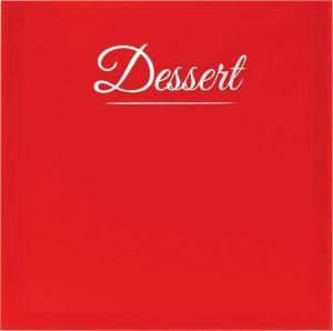 Carte des dessert classique rouge