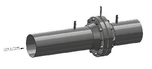 radius tap flowmeter