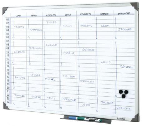 Tableau Planning Journalier Magnétique
