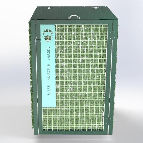 Abri Cache Poubelle Verdoyant Recyclage Masque