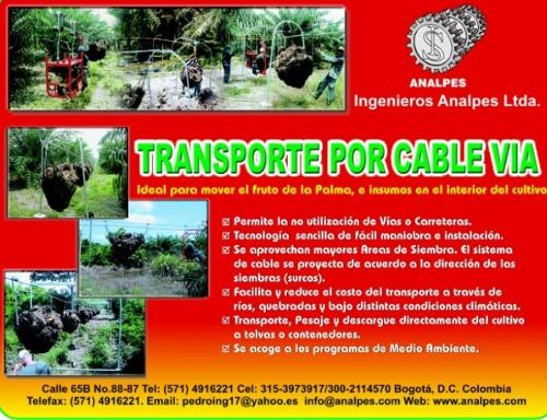 CABLEWAY SYSTEM PALM OIL