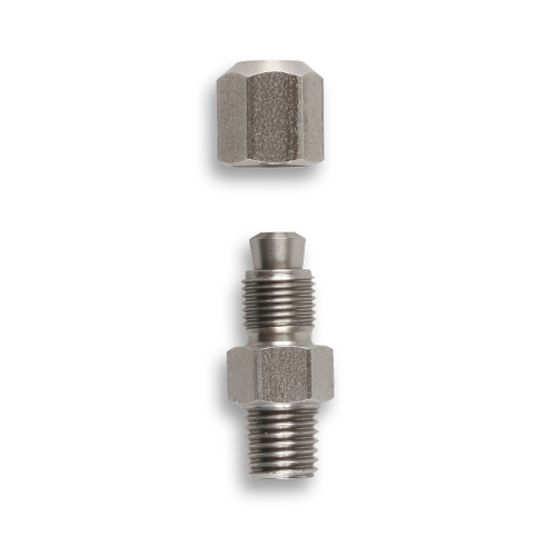 Compression type fittings for sheathing thermocouples