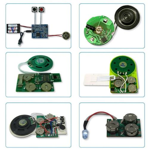 Sound chip programmable sound postcard for greeting cards