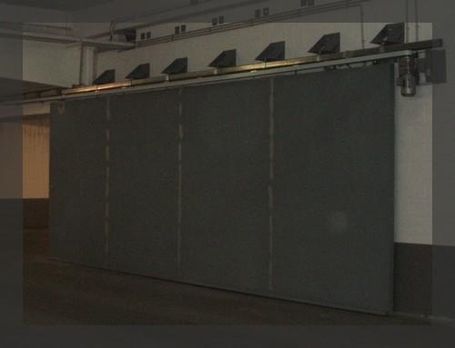 Porte métallique pleine coulissante RF120'