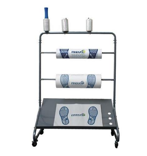 Mobile dispenser for footmats, seat covers or wheel covers