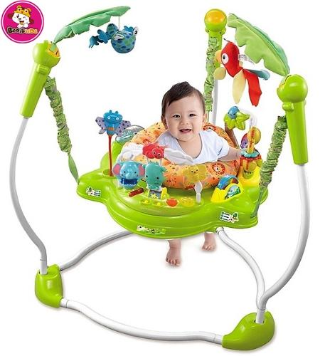 Rainforest Jumperoo Baby Jumper Walker Bouncer Activity-Seat