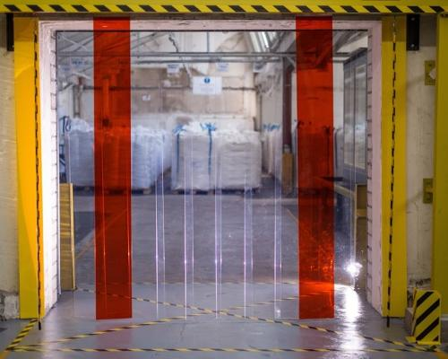 Strip curtains for hall partitions