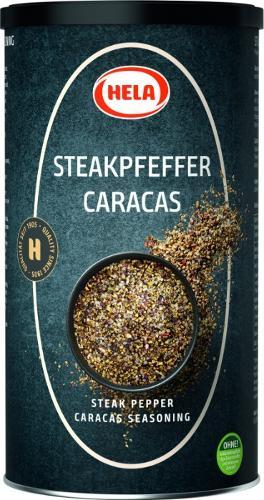 Hela Steak Pepper Caracas 800g. Grill pieces. Spices.