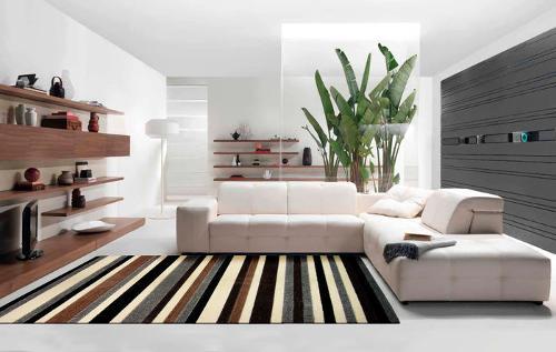 Teppiche in verschiedenen Farben und Größen