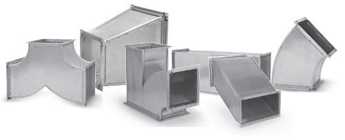 Tuyauterie et composants carré et rectangulaire
