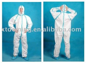 Disposable SF Coverall with Hood and Long Sleeves