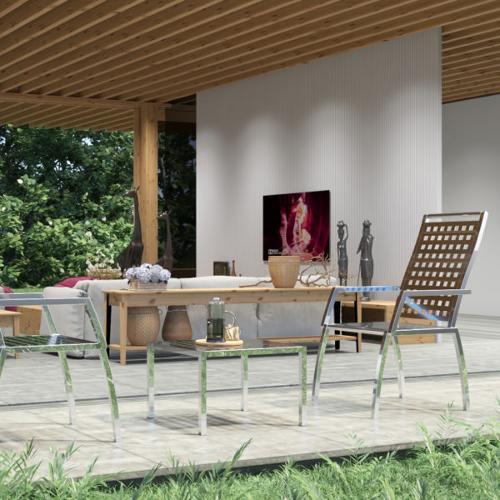 HRP Furniture Paslanmaz Çelik Bahçe Sandalyesi