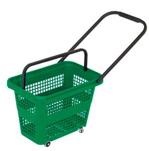 Small basket with wheels