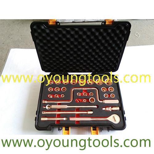 "Non Sparking Tool Socket Set 1/2""Dr 32 Pcs"