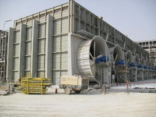 Mechanical draft cooling towers