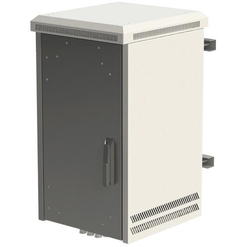 Outdoor cabinets with built-in environment control