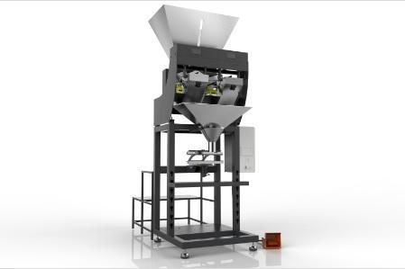 Двух конвейерная полуавтоматическая упаковочная машина с лин