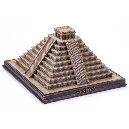 World famous miniature 3D building mexico mayan temple el castillo