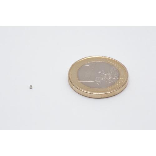 Neodymium disc magnet 1x1mm, N45, Ni-Cu-Ni, Nickel coated