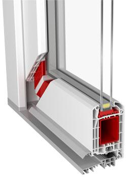 PVC-70 Entrance Door (PVC Door - Aluplast)