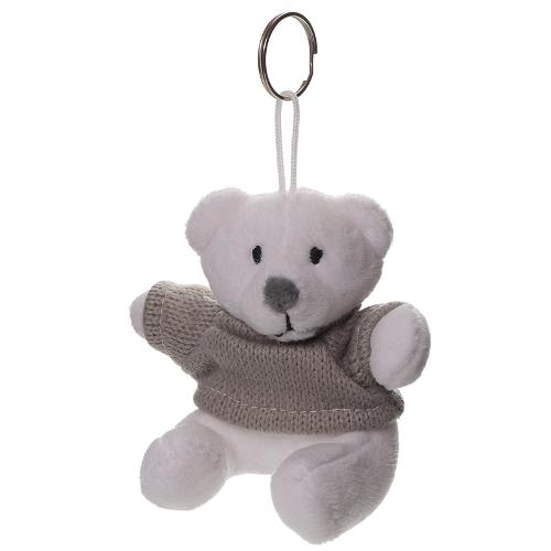 Plush bear with keychain
