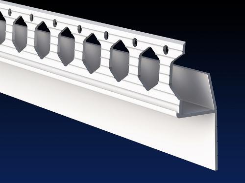 Renderplas PVC shadow gap 'L' profile
