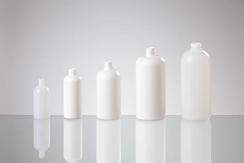 Round shoulder bottles