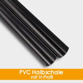 PVC Halbschale mit H-Profil