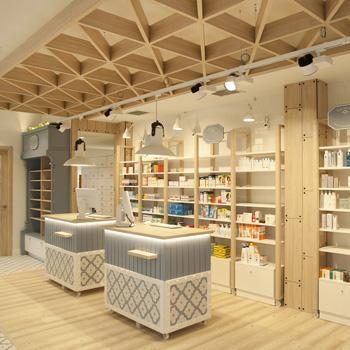 Diseño de farmacias, decoración farmacias