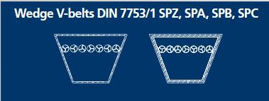 Courroies étroites trapézoïdales DIN 7753/1