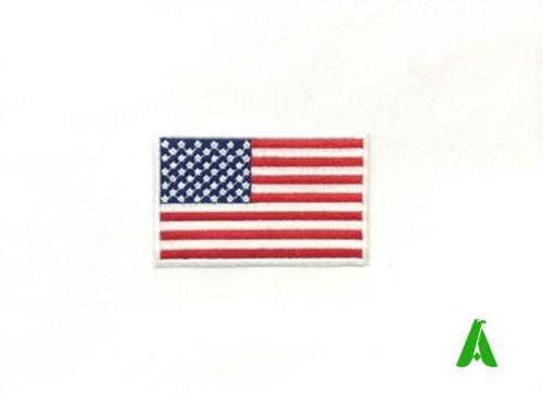 Bandiere Stati Uniti d'America per abbigliamento ricamate