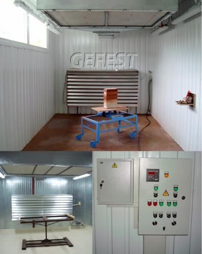Мобильные промышленные окрасочно-сушильные камеры GEFEST PDC
