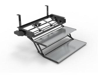 Electric double foldaway step