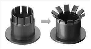 iglidur® MKM  Double flange bearing: press in, turn it down, ready MKM Double fl