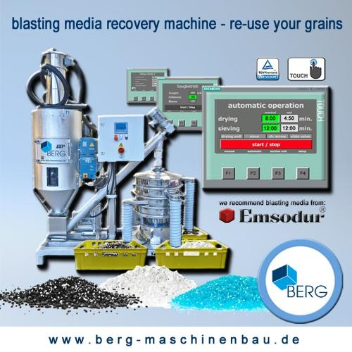 Blasting-media recovery machine - re-use your grains
