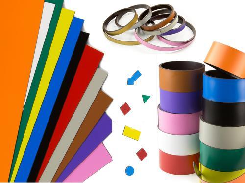 Magnetband, Magnetfolie, Magnetetiketten