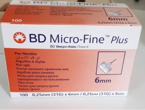 Pen Needles 6 mm pack of 100