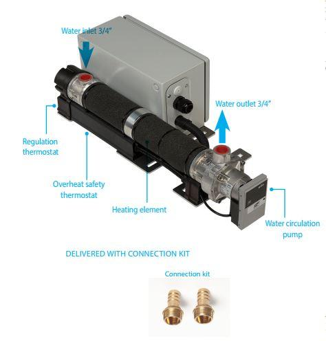Preheating system with pump 4 to 12kW