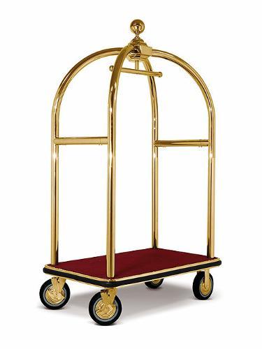 Chariot Porte Bagages Métal Laitonné