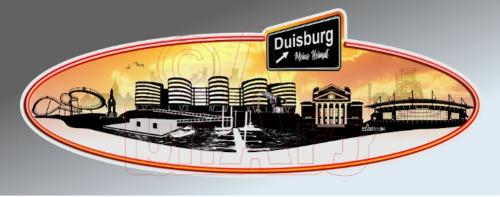Aufkleber Skyline Duisburg