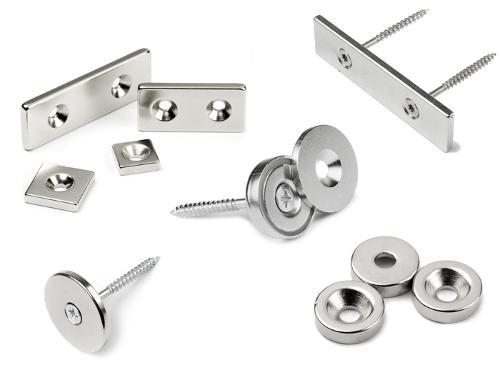 Magnetverschlüsse: flache starke Magnete zum Anschrauben oder Aufkleben